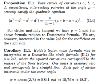 Kocik's generalization of Descartes' circle formula